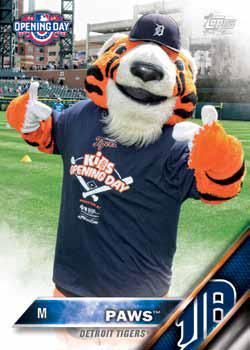 2016 Topps Opening Day Baseball Mascots