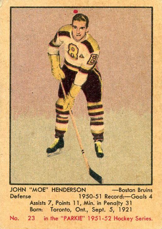 1951-52 Parkhurst John Henderson