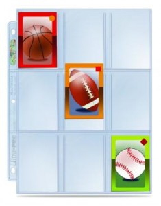 Sports Card Pages 9 Pocket Mini