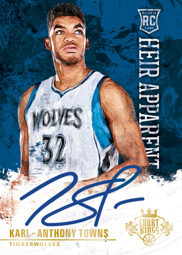 2015-16 Panini Court Kings Towns Autograph