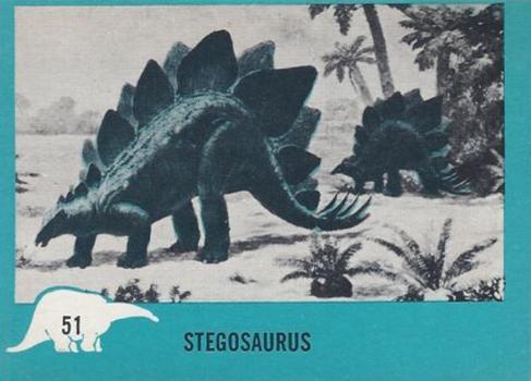 1961 Nu-Card Dinosaurs 51 Stegosaurus