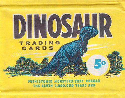 1961 Nu-Card Dinosaurs Wrapper