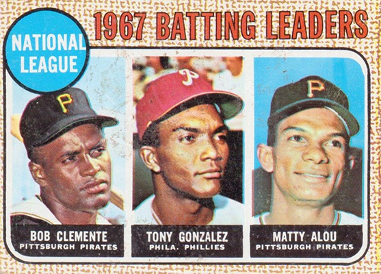 1968 NL Batting Leaders