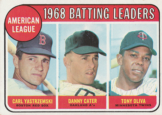 1969 AL Batting Leaders