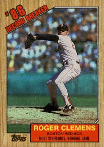 1987 Roger Clemens RB