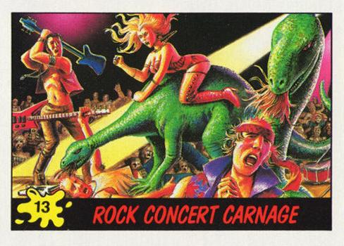 1988 Topps Dinosaurs Attack Base 13