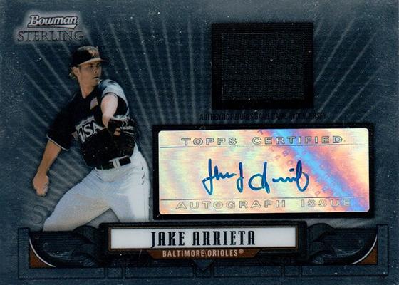 2010 Topps Chrome Baseball #213 Jake Arrieta Rookie Card