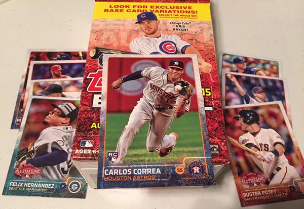 2015 Topps Update Series Baseball No Logo Parallels