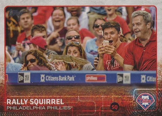 2015 Topps Update Series Baseball Variations US318 Rally Squirrel