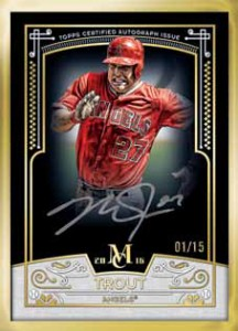 2016 Topps Museum Collection Baseball Museum Collection Autograph Gold Frame
