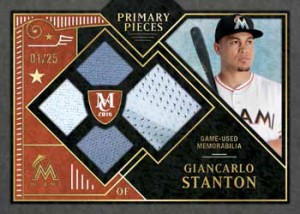 2016 Topps Museum Collection Baseball Primary Pieces