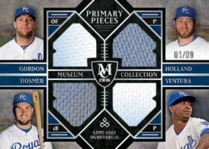 2016 Topps Museum Collection Baseball Primary Pieces Combos