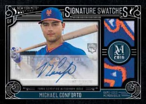 2016 Topps Museum Collection Baseball Signature Swatches Dual Relic Autograph