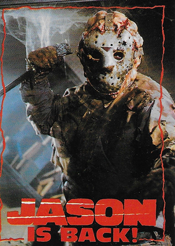 1993 Topps Friday the 13th Comic Promo Card