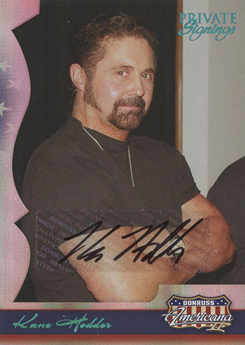 2008 Americana II Private Signings Kane Hodder Autograph
