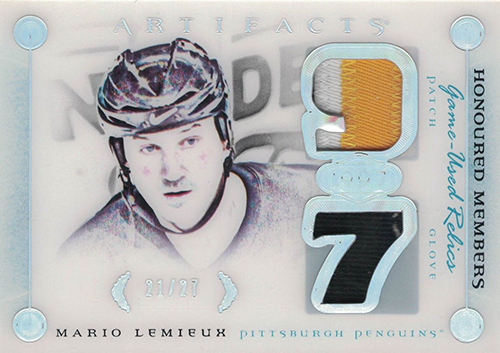 2015-16 Upper Deck Artifacts Honoured Members Mario Lemieux