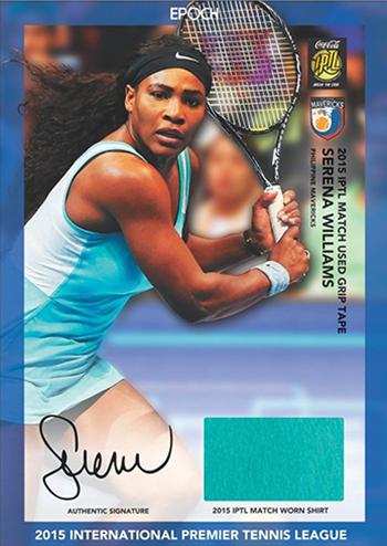 2015 Epoch IPTL Tennis Autographed Memorabilia Serena Williams