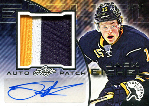 2015 Leaf Fall Expo Autographed Patch Jack Eichel