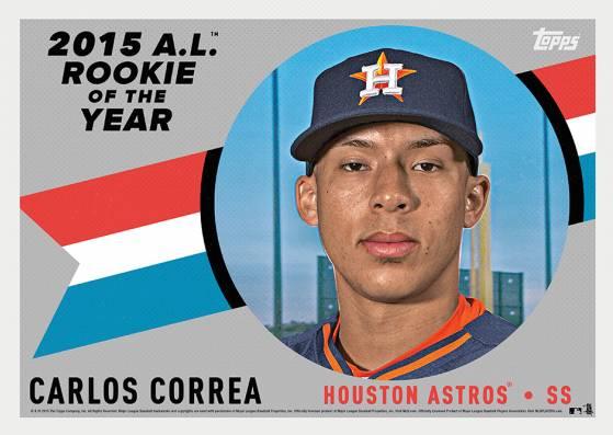 2015 Topps Award Winners AL ROY Carlos Correa Silver