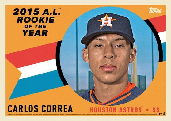 2015 Topps Award Winners AL ROY Carlos Correa