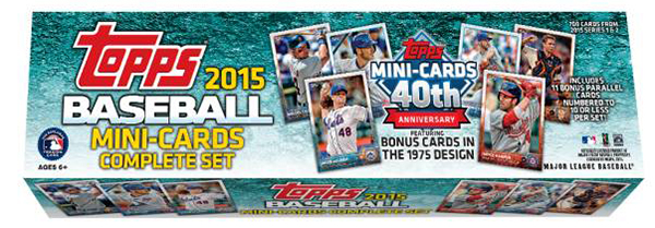 2015 Topps Mini Baseball Set