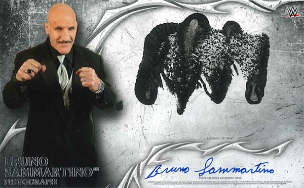 2015 Topps WWE Undisputed Fistographs Bruno Sammartino