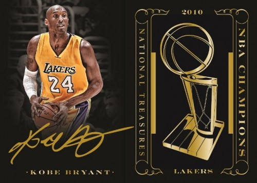 Panini America 2014-15 National Treasures Basketball Kobe Bryant