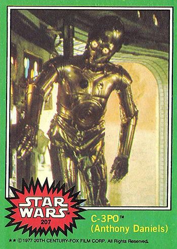 1977 Topps Star Wars 207 C-3PO Corrected