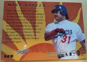 1997 Fleer Golden Memories Mike Piazza Back