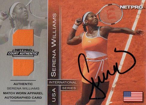 Serena Williams Cards - 2003 NetPro Autographed Memorabilia