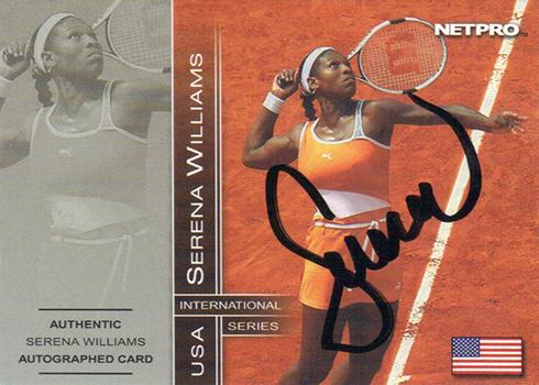 2003 NetPro Serena Williams Autograph 500