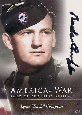 2010 iCardz America at War Band of Brothers Autographs SP1 Lynn Buck Compton