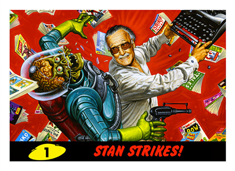 2013 Topps Mars Attacks Stan Lee Comikaze Promo Card