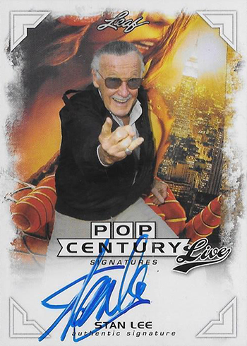 2014 Leaf Pop Century Live Signatures Stan Lee