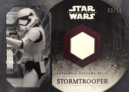 2015 Topps SW TFA Stormtrooper Relic Upper Arm 50