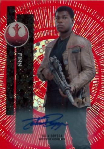 2015 Topps Star Wars High Tek John Boyega Autograph Red