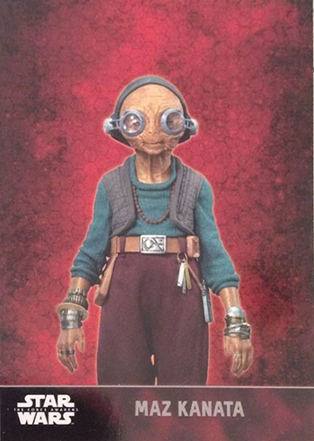 2015 Topps Star Wars The Force Awakens 101 Maz Kanata Target Promo