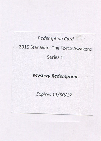 2015 Topps Star Wars The Force Awakens Autographs Mystery Redemption