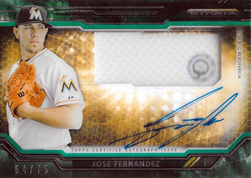 2015 Topps Strata Clearly Authentic Autograph Jose Fernandez