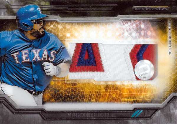 2015 Topps Strata Clearly Authentic Patch Prince Fielder