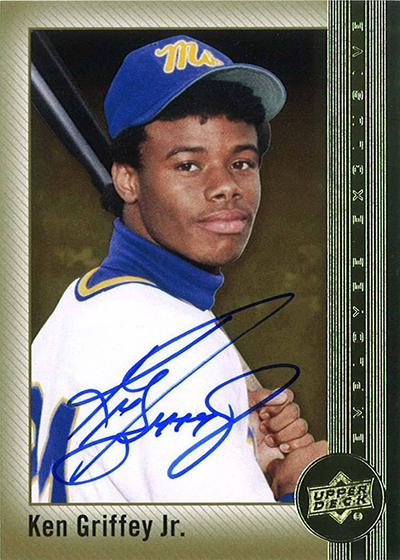 7151cee087 2015 Upper Deck Employee Ken Griffey Jr Autograph Card