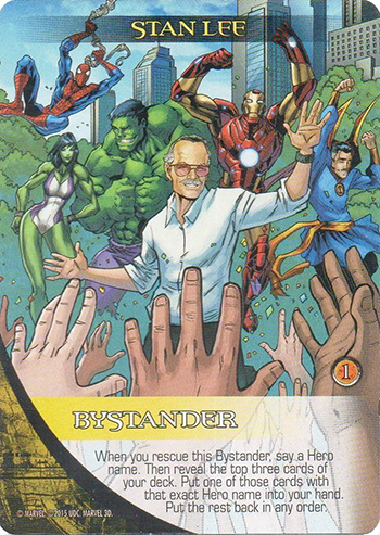 2015 Upper Deck Marvel 3-D Legendary Stan Lee