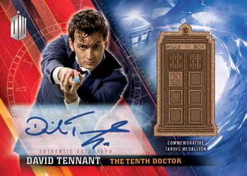 2016 Topps Doctor Who Timeless Autographed Medallion