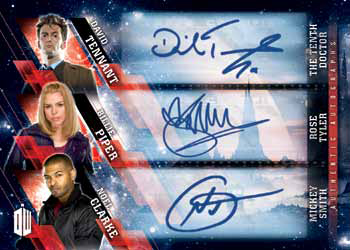 2016 Topps Doctor Who Timeless Checklist - Triple Autograph Mock-Up