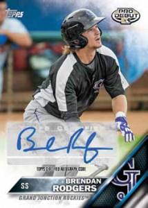 2016 Topps Pro Debut Baseball Autographs