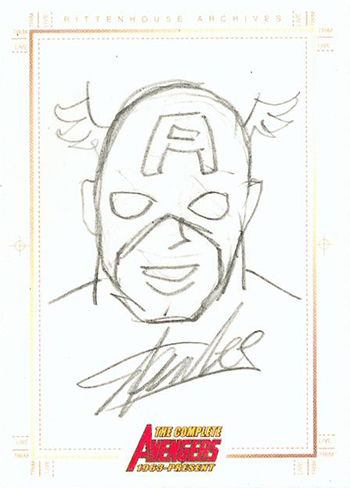 Avengers Stan Lee Sketch Card