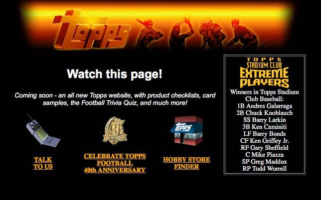 Topps Website 1996