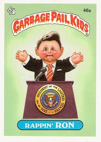 1985 Garbage Pail Kids Series 1 46a Rappin Ron