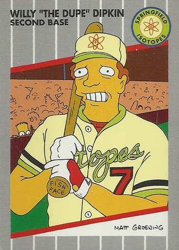 1994 SkyBox Simpsons II Promo Card P4 Willy The Dupe Dipkin