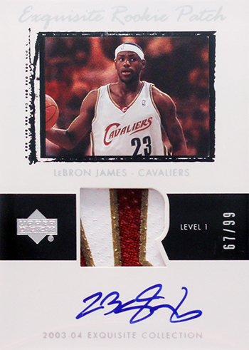 2003-04 Upper Deck Exquisite LeBron James RC